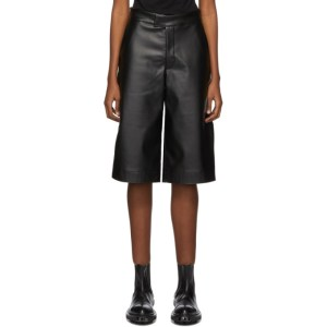 BARRAGAN Black Pieladero Long Shorts
