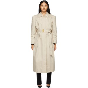 Magda Butrym Beige Cotton Belted Trench Coat