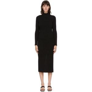 Bureau De Stil Black Mock Neck Mid-Length Dress
