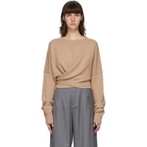 Bureau De Stil Beige Waist Wrap Sweater