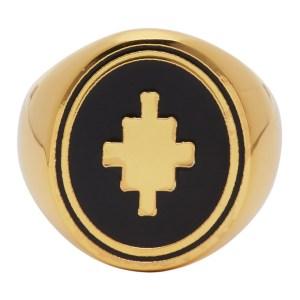 Marcelo Burlon County of Milan Gold Cross Ring