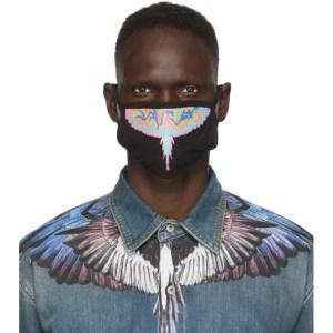 Marcelo Burlon County of Milan Black Psychedelic Wings Face Mask