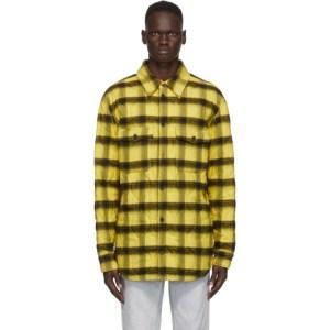 Marcelo Burlon County of Milan Yellow Check Flannel Jacket