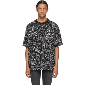 Marcelo Burlon County of Milan Black Sketches T-Shirt
