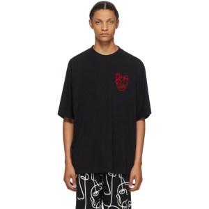 Marcelo Burlon County of Milan Black Multi Faces T-Shirt