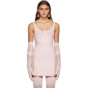 ISA BOULDER SSENSE Exclusive Pink Traveller Gloves