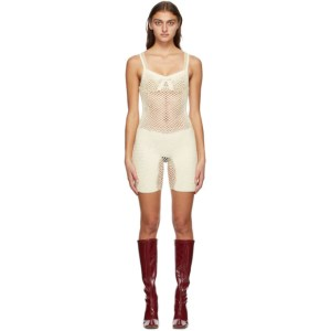 ISA BOULDER SSENSE Exclusive Off-White Shyness Bodysuit