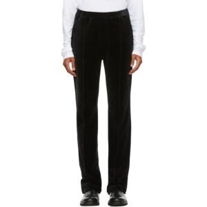 Haider Ackermann Black Velvet Lounge Pants