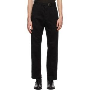 Haider Ackermann Black Oversized Trousers