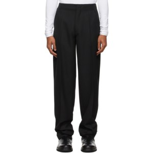 Haider Ackermann Black Wool Straight-Leg Trousers