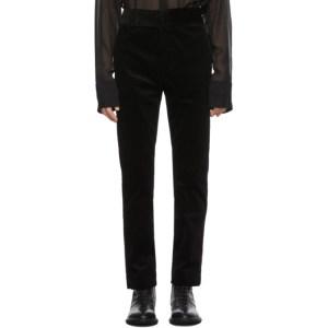 Haider Ackermann Black Corduroy Conducer Trousers