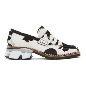 Miharayasuhiro White and Black Cow Sneaker Sole Loafers