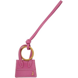 Jacquemus Pink and Gold Le Porte Cles Chiquito Keychain