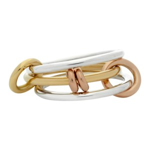 Spinelli Kilcollin Silver and Gold Acacia Three-Link Ring