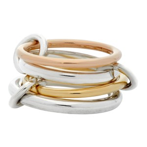 Spinelli Kilcollin Silver and Gold Hyacinth Four-Link Ring