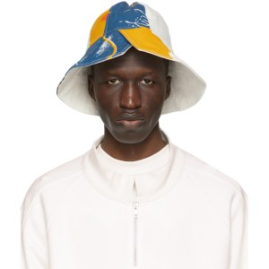 Bethany Williams White The Magpie Project Edition Recycled Bell Tent Bucket Hat