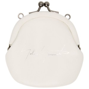 Yohji Yamamoto White Leather Coin Pouch
