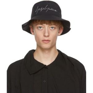 Yohji Yamamoto Black Gore-Tex® Logo Bucket Hat