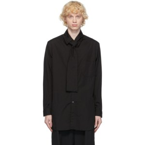 Yohji Yamamoto Black Long Collar Shirt