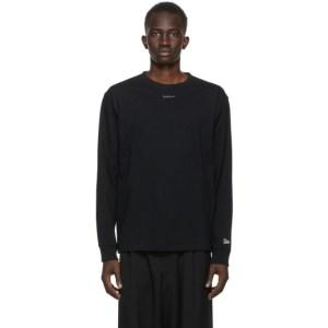Yohji Yamamoto Black New Era Edition Logo Long Sleeve T-Shirt
