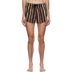 COMMAS Multicolor Solar Stripe Swim Shorts