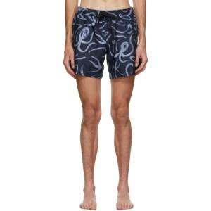COMMAS Navy Octopus Classic Swim Shorts