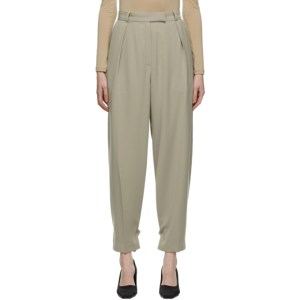 Blossom Beige El Tuck Trousers