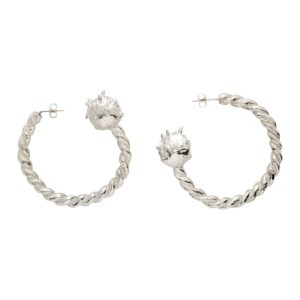 Georgia Kemball Silver Twisted Goblin Hoops
