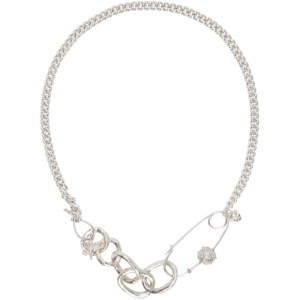Georgia Kemball Silver Chunky Slub Chain Necklace