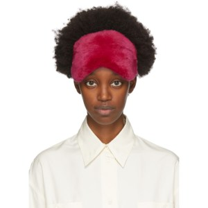 Yves Salomon Pink Fur Eye Mask