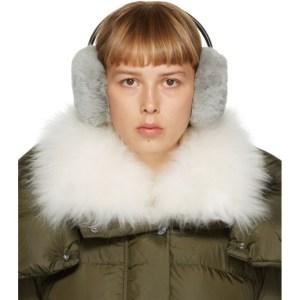 Yves Salomon Grey Fur Ear Muffs