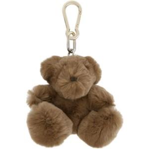 Yves Salomon Brown Rabbit Teddybear Keychain