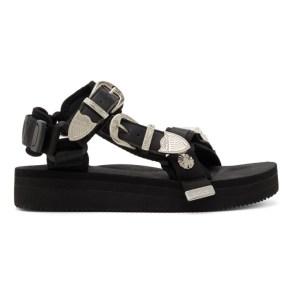 Toga Black Suicoke Edition Depa-SP Sandals