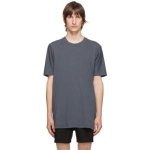 11 by Boris Bidjan Saberi Blue Cotton T-Shirt