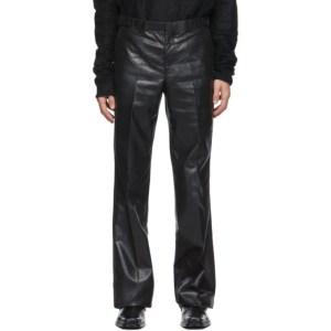 Johnlawrencesullivan Black Side Strap Trousers