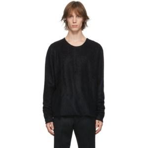 Johnlawrencesullivan Black Wool Cut-Off Sweater