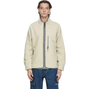 thisisneverthat Reversible Off-White Sherpa Boa Jacket