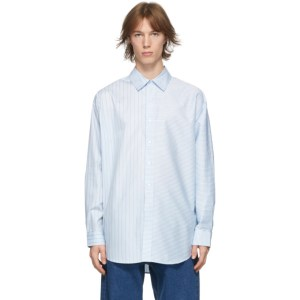 Eytys Blue and White Petyon Striped Shirt