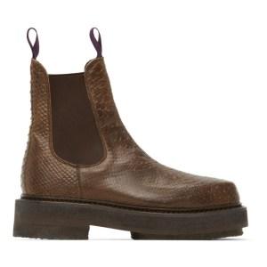 Eytys Brown Snake Ortega Chelsea Boots