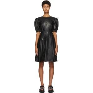 SJYP Black Faux-Leather Dress