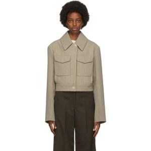 Lemaire Beige Wool Short Blouson Jacket