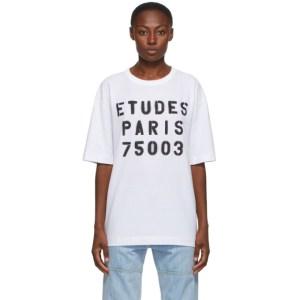 Etudes White Museum Stencil T-Shirt