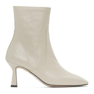 LOW CLASSIC Off-White Leather Stiletto Boots