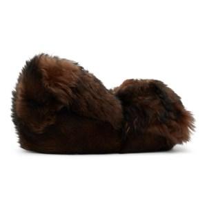 VETEMENTS Brown Hug Me Bear Slippers
