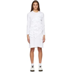 Comme des Garcons Comme des Garcons White Ruffle Long Sleeve Short Dress