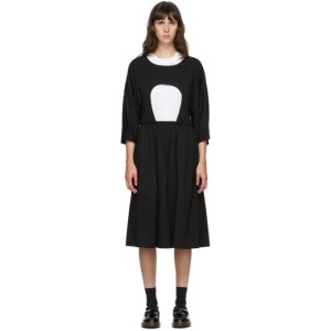 Comme des Garcons Comme des Garcons Black Cut-Out Midi Dress