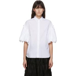 Noir Kei Ninomiya White Voluminous Short Sleeve Shirt