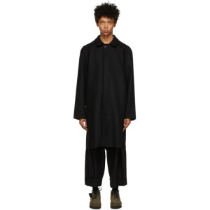 Toogood Black Cashmere The Driver Coat