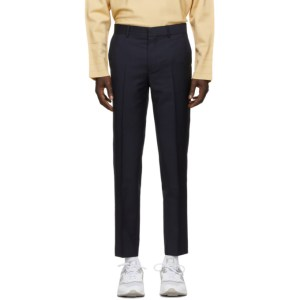 Harmony Navy Wool Peter Trousers