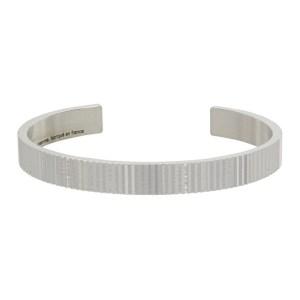 Le Gramme Silver Polished Vertical Guilloche Le 23 Grammes Ribbon Bracelet